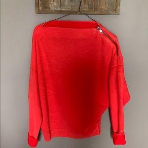 Free People shoulder zip sweater